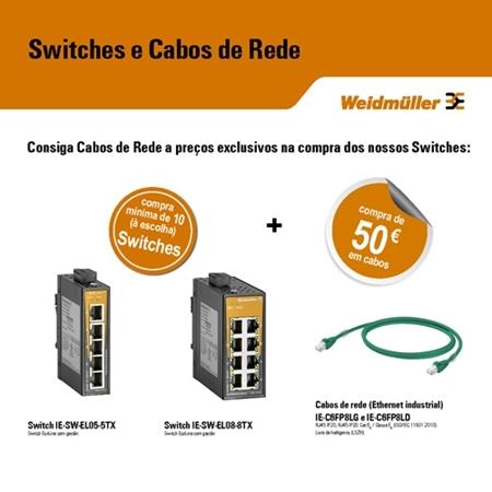 Logo do fornecedor Campanha   |   WEIDMÜLLER   |   Switches e Cabos de Rede